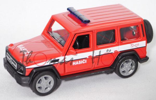 06101 CZ Mercedes-Benz G 65 AMG (Mod. 2012-2015) Fire Brigade, rot/weiß, HASICI, SIKU 1:50, L17mpK
