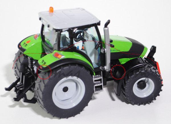 00401 DEUTZ-FAHR Agrotron K 610 Traktor (2. Generation, Modell 2008-2014), hell-verkehrsgrau/gelbgrü