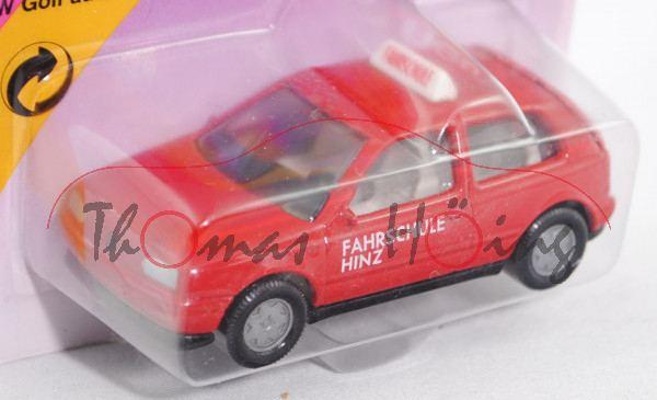 00000 VW Golf III 1.8 GL (Typ 1H, Dreitürer, Modell 1991-1995) Fahrschule, karminrot, innen seidengr