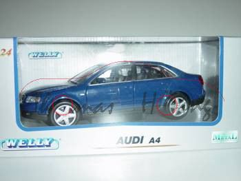 Audi A4 Mj. 02, blau, Welly, 1:24, mb