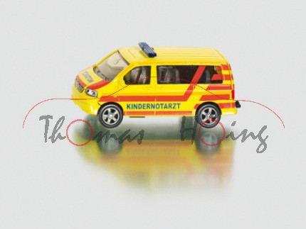 00000 VW T5 Caravelle Kinder-Notarztwagen, Modell 2003-2009, leuchtgelb, KINDERNOTARZT, mit tagesleu