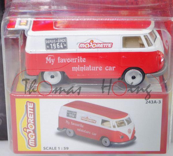 VINTAGE Box Majorette 212052015 VW T1 Kastenwagen 1964 weiß // rot