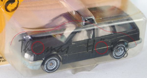 00002 VW Passat Variant (B3, Typ 35i, Modell 1988-1993), schwarz, innen lichtgrau, Lenkrad schwarz,