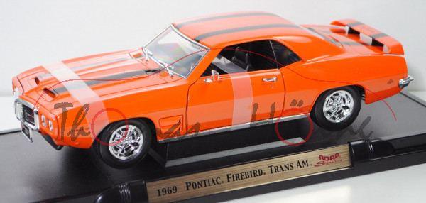Pontiac® Firebird® Trans AM (1. Gen., Baujahr 1969), reinorange, ROAD Signature / Yatming, 1:18, mb