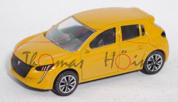 Peugeot 208 II 1.2l (2. Gen., Modell 2019-), faro gelb metallic, Norev Multigam Serie, ca. 1:64, mb