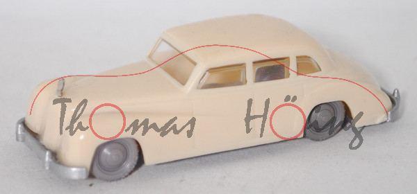 00002 Mercedes-Benz 300 b (W 186 III, Mod. 54-55), hellelfenbein, Mod. unlackiert, Siku Plastik 1:60