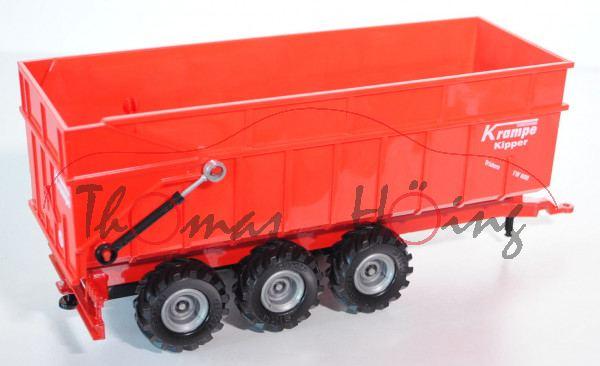 Dreiachs-Muldenkipper, verkehrsrot, FAHRZEUGBAU Krampe / Kipper / Tridem TW 800, L15