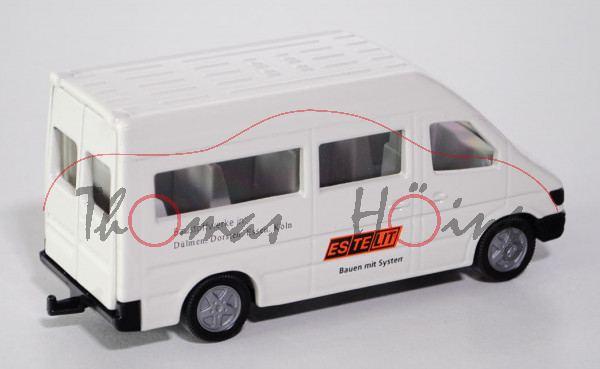 Mercedes-Benz Sprinter (T1N, Baureihe W 901) 212 D / 312 D / 412 D Schulbus, Modell 1995-2000, weiß,