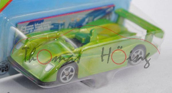 00003 SIKU RACER (vgl. Audi R8 Le Mans Prototyp, Modell 2000-2005), hell-gelbgrünmetallic, innen sch