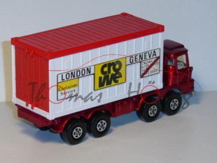 Scammell Container Truck, dunkelrotmetallic/silbergraumetallic, LONDON GENEVA / Container / Service