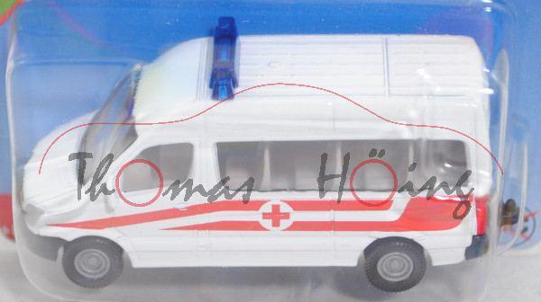 03802 A MB Sprinter II (Mod. 06-13) Bus Krankenwagen, weiß, rotes Kreuz, hohe Blaulichtleiste, P29e