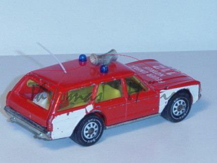 Ford Granada Turnier 3.0 (Mk 1, Typ Granada \'72) Kommando-Wagen, Modell 1972-1975, rot, Druck FEUER