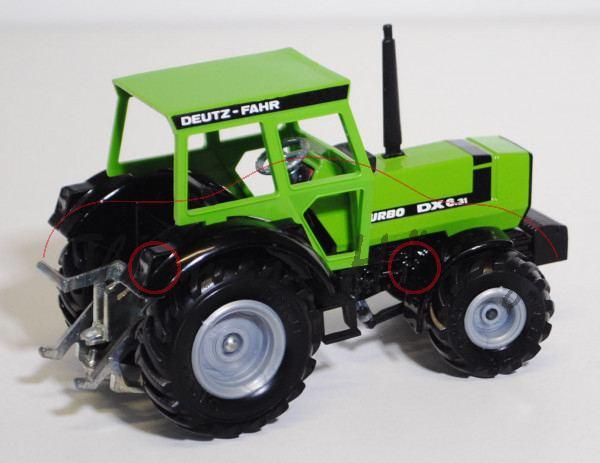 Deutz-Fahr DX 6.31 TURBO Traktor, gelbgrün, graue Felgen