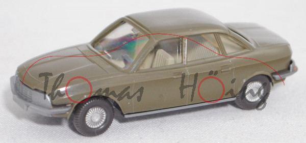 002c NSU Ro 80 (Typ 80, Mod. 1967-1972, Baujahr 1967), hellolivgrün, Wiking, 1:87 (Achsen oxydiert)
