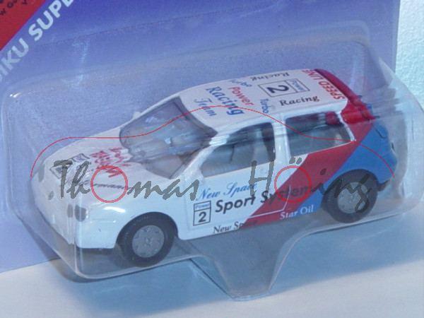 Tourenwagen VW Golf IV 1.8 T, Modell 1997-2003, reinweiß/karminrot/himmelblau, New Space / Power / 2