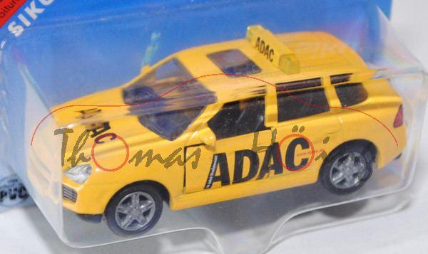 00000 Porsche Cayenne Turbo (Typ 9PA, Modell 2002-2007) ADAC Pannenhilfe, signalgelb, 50 Jahre Straß