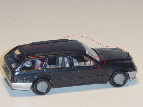 00007 Mercedes-Benz 300 TE (Baureihe S 124, Baumuster 124.090, Modell 1985-1986), schwarzgraumetalli