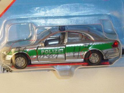 00004 Mercedes E 500 Polizei-Einsatzfahrzeug, weißaluminiummetallic/minzgrün, POLIZEI, P29a
