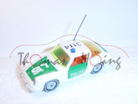 Porsche 911 Targa Autobahn-Streifenwagen, Modell 1965-1973, cremeweiß, LS/3114, Glas gelbgrün, Anten