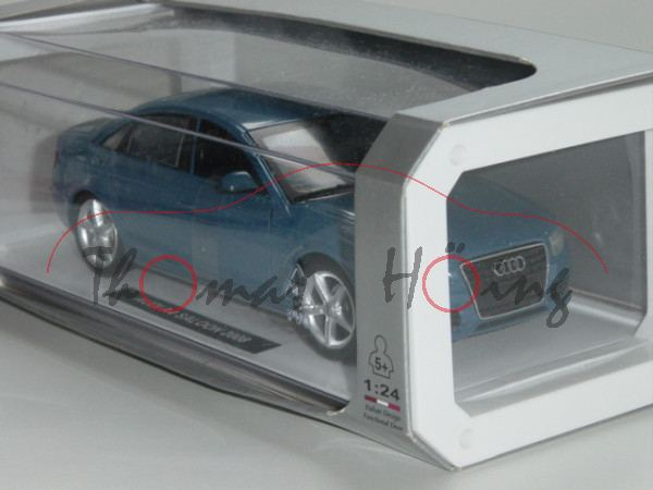 Audi A4, Mj 2008, blaumetallic, New Ray, 1:24, Special Edition, mb