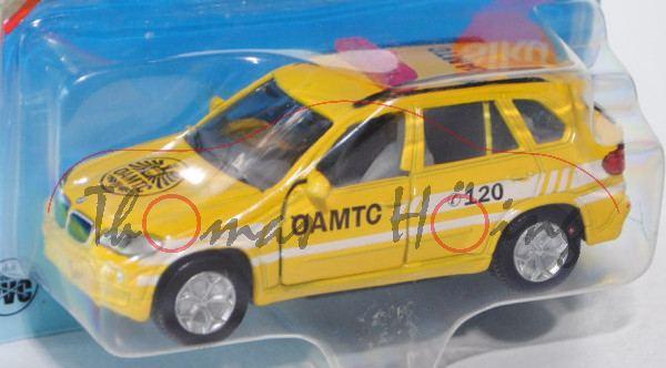 03800 BMW X5 4.8i (Typ E70) ÖAMTC Pannenhilfe, Modell 2006-2010, signalgelb, ÖAMTC C 120 / C 120 / w