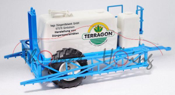 00402 Hänger-Feldspritze (Anhängefeldspritze), reinweiß/himmelblau, TERRAGON® / Natur- und Spezialdü