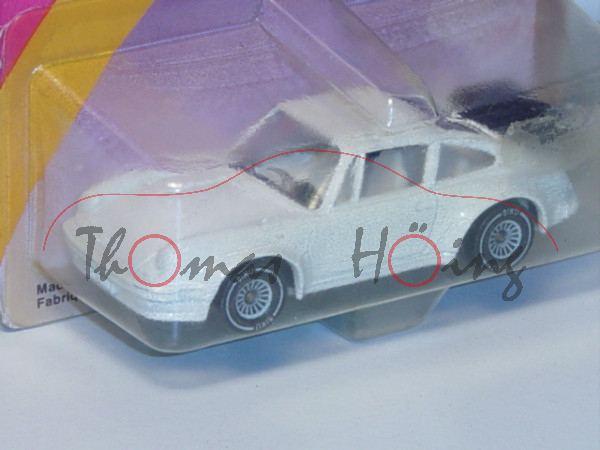 00000 Porsche 911 Turbo 3,3 (G-Modell Typ 930), Modell 1978-1989, reinweiß, innen weiß, Lenkrad schw