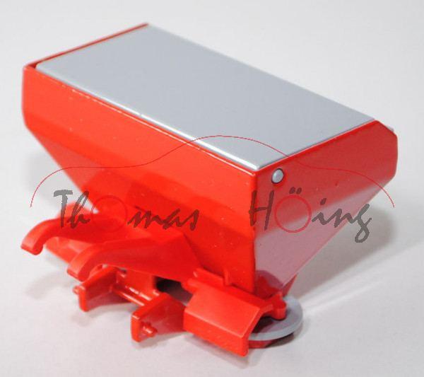 00404 Düngerstreuer, verkehrsrot, Deckel und Streuteller fenstergrau, Druck KUHN AXERA-H 1102 EMC in
