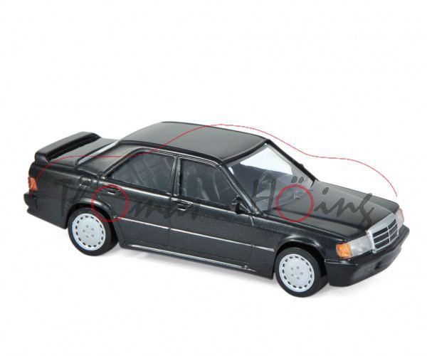 Mercedes-Benz 190 E 2.3-16 (W 201, Modell 1984-1987), blauschwarz metallic, Norev Jet-car, 1:43, mb