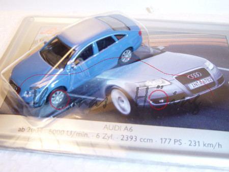Audi A6, brillantblau, Mj 2004, Schuco, 1:87, Blechboden