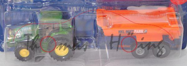 00401 John Deere 7530 Premium (Mod. 2007-2011) mit Krampe Muldenkipper, HKL MIETPARK, Werbebox