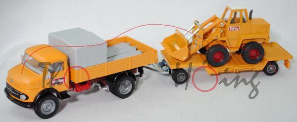 00000 MB Kurzhauber LK 710 + Tieflader mit KramerAllrad Schaufellader 411, bölling, L17mpK