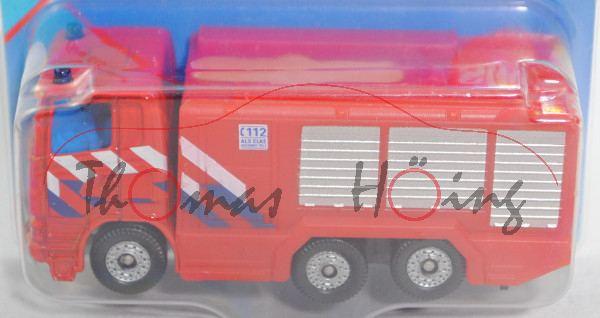00300 NL Scania R380 (CR16, Modell 2004-2009) Fire Engine, rot, reinweiß/saphirblaue Streifen, P29e