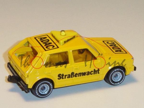 VW Golf I (Typ 17, Modell 1978-1980) ADAC-Straßenwacht, kadmiumgelb, innen gelb, Lenkrad schwarz, AD