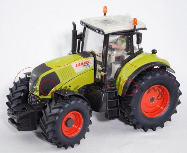 00401 CLAAS AXION 840 Traktor (Mod. 07-13), grau/grün, SIKU 1:32, Werbebox (m-) (Agritechnica 2007)