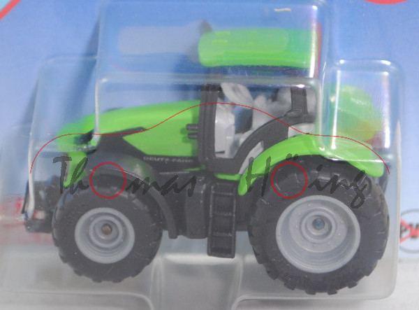 00000 DEUTZ-FAHR 7250 TTV Agrotron (Typ Serie 7 TTV Agrotron, Modell 2016-), grün/grau, SIKU, P29e