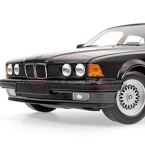 BMW 730i E32 Mj 1987 Schwarzmetallic Minichamps 1