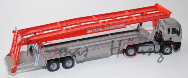 MAN TGA 18.460 M Autotransporter, Modell 2000-2007, silber/schwarz/verkehrsrot, CAR-TRANS-INTERNATIO