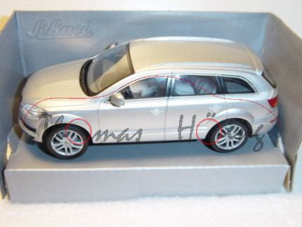 Audi Q7, Mj 05, lichtsilber, Schuco Junior Line, 1:43, mb