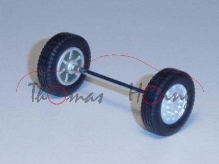 Vorderachse mit 2 Reifen auf Felge für 3930 / 3931 / 3933