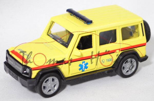 00901 GR Mercedes-Benz G 65 AMG (Mod. 2012-2015) Emergency Car, gelb, C 166, SIKU, 1:50, L17mpK