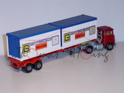 Scammell Crusader Container Truck, rubinrotmetallic/silbergraumetallic/verkehrsrot, G GENTRANSCO / E