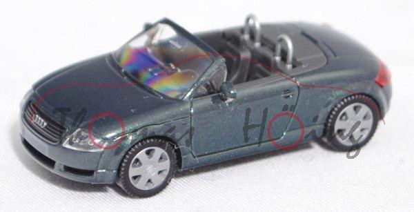 Audi TT Roadster 1.8 T quattro (Typ 8N, Vorfacelift, Mod. 99-00), tannengrünmet., Wiking, 1:87, mb