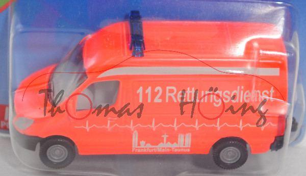 00003 MB Sprinter II (Modell 06-13) Krankenwagen, rot, 112 Rettungsdienst, hohe Blaulichtleiste, P29