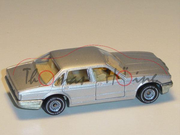 00002 Jaguar XJ 6 3.6 (Typ XJ40, Modell 1986-1989), silbergraumetallic, innen hell-beige, Lenkrad he