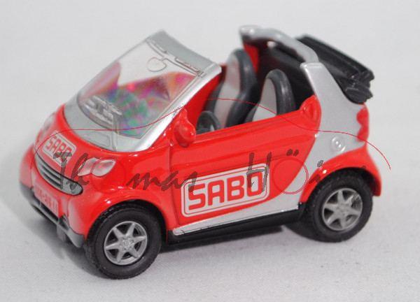 smart fortwo cabrio passion (Typ A 450, Modell 2000-2003), hell-verkehrsrot/weißalu, SABO unten
