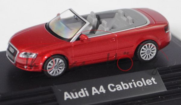 Audi A4 Cabriolet 3.2 FSI quattro (B7, Typ 8H, Modell 06-09), granatrot perleffekt, Wiking, 1:87, mb