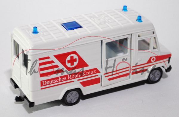 00001 Mercedes-Benz 809 D (Typ T 2 neu, Baumuster: 670) DRK-Rettungsdienst, Modell 1986-1996, reinwe