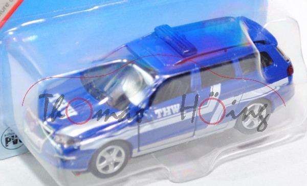 00000 VW Passat Variant 2.0 FSI (B6, Typ 3C) THW-Einsatzleitwagen, Modell 2005-2010, ultramarinblau,