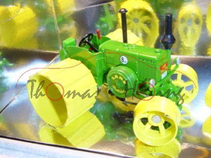 Moorbulldog-Set bestehend aus 3466 Lanz Ackerluft-Bulldog HR8 D9506 und 3460 Hanomag R45, smaragdgrü